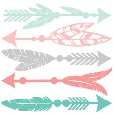 Feather Arrow Set SVG scrapbook cut file cute clipart files for silhouette cricut pazzles free svgs free svg cuts cute cut files