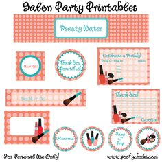 FREE Printables!!! In the Previous pins of my Mary Kay Party this pin is where i got most of my Printables.