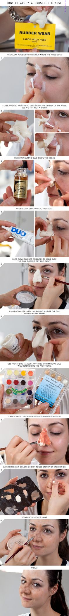 Halloween How-To: The Easiest Way to Apply a Prosthetic Nose | Beautylish