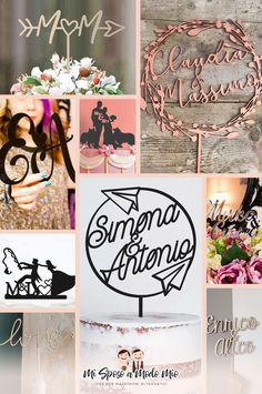 Cake topper con scritte personalizzate... davvero originali!  #wedding #caketopper Wedding Vendors, Wedding Ideas, Cake Toppers, Place Cards, Place Card Holders, How To Make, Facebook, Etsy, Wedding Ceremony Ideas