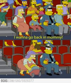When I watch a horror film with my mum