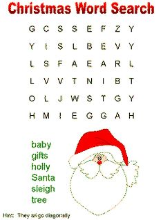 Word searches for Christmas More