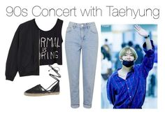 """90s Concert with Taehyung"" by kookiechu ❤ liked on Polyvore featuring Topshop, Circus by Sam Edelman and Monki"