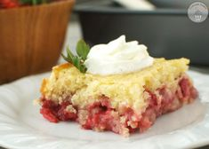 Moist and decadent cake is topped with sweet strawberries and sugar crumble. A great dessert for summer!