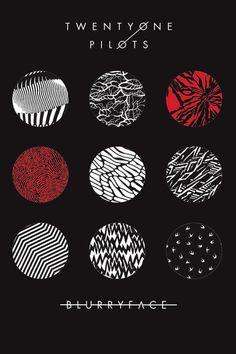 Twenty One Pilots Blurryface Poster                                                                                                                                                                                 Mais
