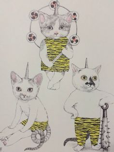 Sketchbook Inspiration, Cool Cats, Art Sketches, Cute Illustration, Illustration Artists, Cat People, Cat Drawing, Animal Paintings, Cat Art