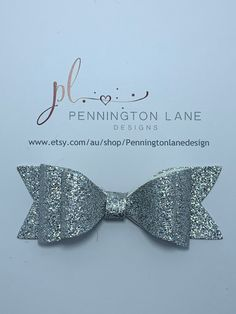 3 Silver Glitter Hairbow on Alligator Clip Hairbows, Silver Glitter, Trending Outfits, Unique Jewelry, Handmade Gifts, Etsy, Kid Craft Gifts, Silver Sequin, Craft Gifts
