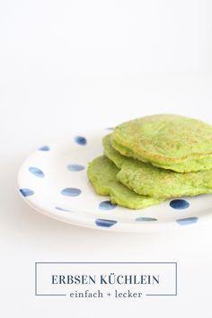 Erbsenpfannkuchen für Beikost und Baby-Led-Weaning. Essen lernen. Einfache Gerichte für Kleinkinder. Familienessen einfach und lecker
