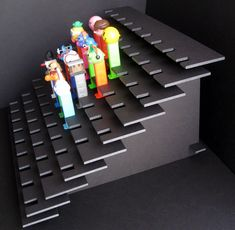 Large 77 Pez Dispenser Display Shelf Stadium by PezHeadForever