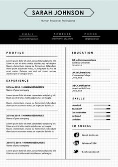 28 Best Reverse Chronological Resume Layouts Images