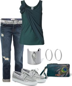 """Peacock colors!"" by deedee22371 on Polyvore"