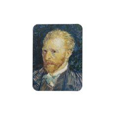 SOLD! - #Self #Portrait #Vincent van #Gogh fine #art #painting #Vinyl #Magnet #kitchen #accessories #gift #art #vintage #classic #postimpressionism #gift #Paris #France