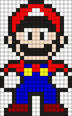 Mario Perler Bead Pattern / Bead Sprite - Sprite - Ideas of Sprite - Ma. Mario Perler Bead Pattern / Bead Sprite – Sprite – Ideas of Sprite – Mario Perler Be Melty Bead Patterns, Pearler Bead Patterns, Bead Loom Patterns, Perler Patterns, Beading Patterns, Knitting Patterns, Crochet Patterns, Kandi Patterns, Mosaic Patterns