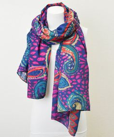 Take+a+look+at+the+Leto+Collection+Purple+Paisley+Scarf+on+#zulily+today!