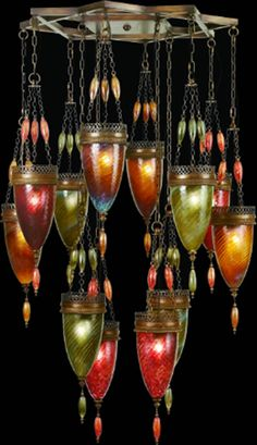 hand blown glass Chandelier Beautiful