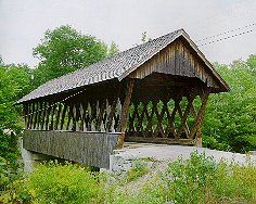 Kenisten Bridge over the Blackwater River in Andover, NH Covered Bridge #15, built in 1882. This one is along an old rail route which was converted to trail for jogging, snowmobiles, horseriding, and biking.