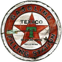 cool vintage inspired Texaco Wall Art