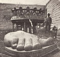 Construction of the Statue of Liberty.