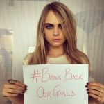 Cara Delevingne Joins  Bring Back Our Girls Campaign For Missing Nigerian Girls (Photos)