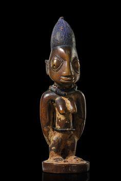 Yoruba Ere Ibeji (Twin Figure), Oyo - Oshogbo, Nigeria http://www.imodara.com/discover/nigeria-yoruba-ere-ibeji-twin-figure-oyo-oshogbo/