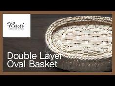 [라탄공예] 취미수업 온라인클래스 6. : 타원형 이중바구니 만들기 /Rattan Craft : Double Layer Oval Basket / rattan class,DIY - YouTube Newspaper Basket, Paper Crafts, Diy Crafts, Creative Studio, Basket Weaving, Diy For Kids, Rattan, Handmade, How To Make