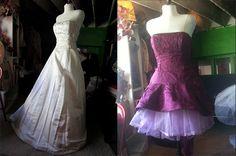55 Intelligent & Fun Ways To Refashion Prom, Wedding & Formal Dresses - Paris Ciel (EN) Formal Dresses For Weddings, Wedding Dresses, Remake Clothes, Refashion Dress, Pretty Prom Dresses, Dress Alterations, Altering Clothes, Vintage Gowns, Clothes Crafts