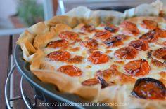 Il sapore del sale: Torta salata con mousse di melanzane e pomodorini confit!