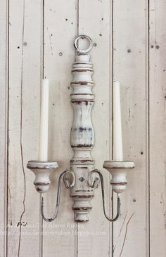 Far Above Rubies: DIY French candle sconces