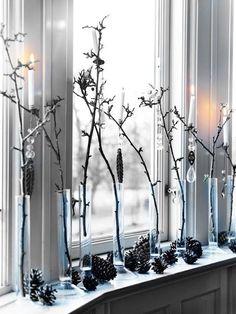 Black And White christmas Window Decoration