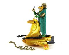 GI Joe Complete Serpentor & Air Chariot Mail-In Variant, 1986 Vintage with Original Accessories Weapons, Hasbro