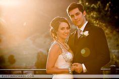 Beautiful sunset wedding photo.