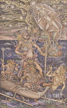 Bima Find Amrita Holy Water By I Ketut Ginarsa Canvas Print / Canvas Art by…