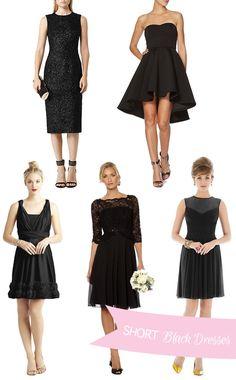 Where to buy Short Black Bridesmaid Dresses | www.onefabday.com