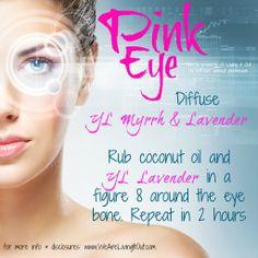 Young Living Essential Oils: Lavender & Myrrh for Pink Eye www.WeAreLivingItOut.com