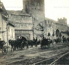 Foto storiche di Roma - Viale di Porta Tiburtina - Porta Tiburtina o Porta San Lorenzo 1904 Ora Porta Taurina