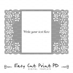 Roses Lace crochet doily Wedding invitation 5x7 от EasyCutPrintPD