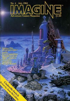 Science Fiction Magazines, Science Fiction Art, Sience Fiction, Sci Fi City, 70s Sci Fi Art, Adventure Games, Sci Fi Horror, Futuristic Art, Sci Fi Books