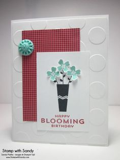 Pictogram Punches Birthday, FMS144 & TCC14 by stampwithsandy - Cards and Paper Crafts at Splitcoaststampers