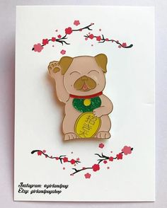 #Repost @girlandpug  Lucky pug pin is now in my #etsy https://girlandpugshop.etsy.comInspired by the maneki-neko Japanese cat that brings good luck. Take this lucky pug home just in time for the holidays or perfect for a stocking stuffer. Big giveaway very very soon     (Posted by https://bbllowwnn.com/) Tap the photo for purchase info. Follow @bbllowwnn on Instagram for great pins patches and more!
