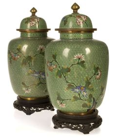 Chinese Cloisonne Ginger Jars - Cowan's Auctions. these are absolutely stunning.