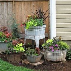 I love galvanized tubs for inside or out