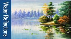 Paint water and reflections in Acrylics - PART 1 - YouTube