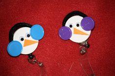 Penguin Badge Holder SALE 350 by amosmom on Etsy, $3.50