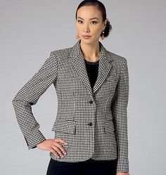 V9099 Misses' Jacket by Claire Shaeffer — jaycotts.co.uk - Sewing Supplies