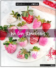 Shades of pink... These strawberries will be a Valentine's Day hit!