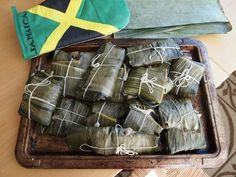 A favorite dessert from our Jamaican heritage: Blue Drawers, Duckunoo, or Tie Leaf . yummy for the tummy Jamaican Cuisine, Jamaican Recipes, Jamaica Tours, Jamaica Food, Jamaica Jamaica, Jamaican Patty, Blue Drawers, Island Food, Caribbean Recipes