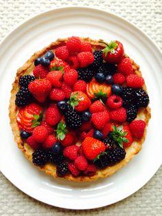 Summer fruit Tart recipe via Little and Friday, Auckland, NZ