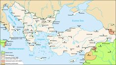 The Byzantine (Eastern Roman) Empire after the death of Basil II in 1025 Byzantine Empire Map, Byzantine Art, Historical Architecture, Historical Maps, Fall Of Constantinople, Ottoman Empire, Middle Ages, Ankara, Istanbul