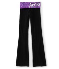 Tonal Foil Animal Print Yoga Pants - Aeropostale