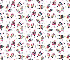 Ditsy Knits fabric by runningriverdesign on Spoonflower - custom fabric